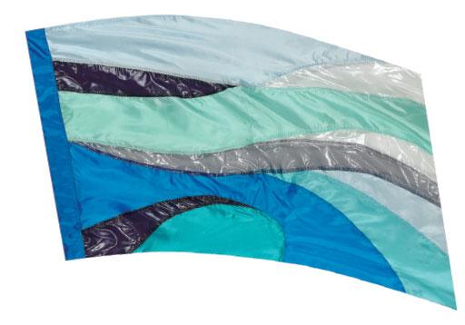 Crystal Clear Lamé Flags: SP1305