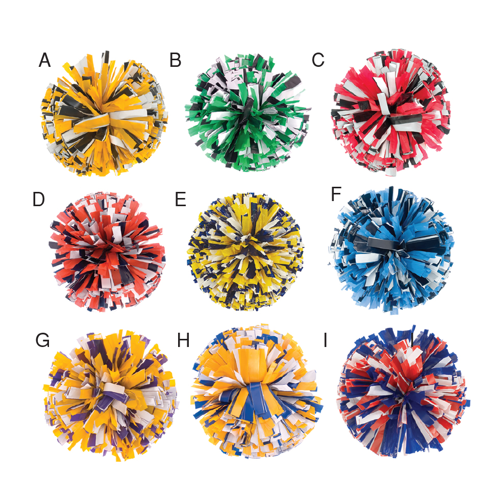 Poms: 3-Color Mix