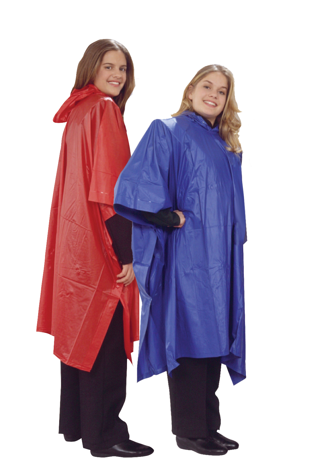 Colored Rain Ponchos