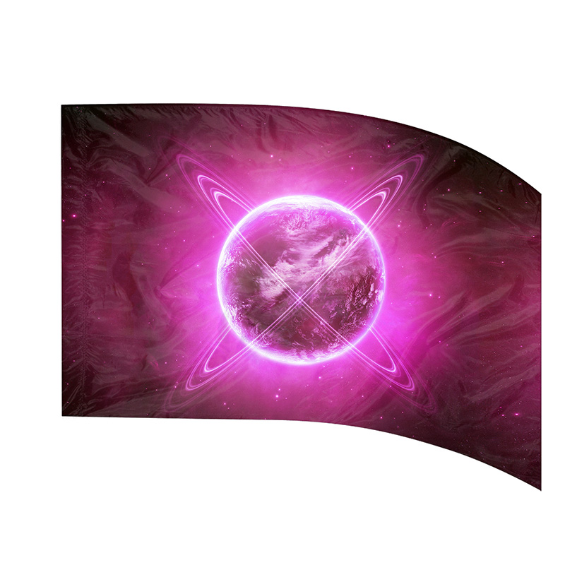 Made-to-Order Digital Cosmos Flags: Style 3 Pink