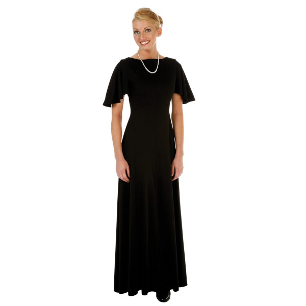 Juliet Concert Dress, Cape Sleeve