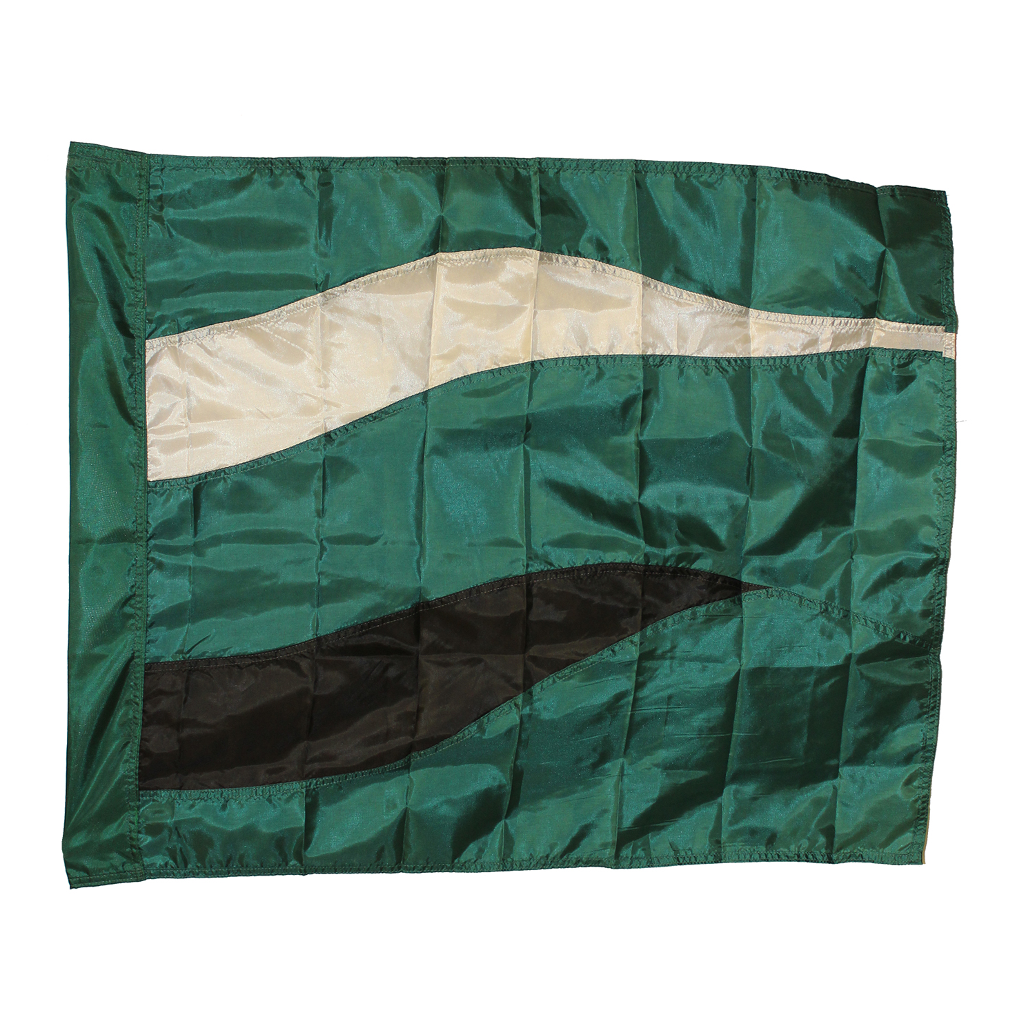 Closeout: Forest Green/White/Black Swing Flag