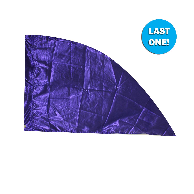 Closeout Flags: Custom Size Electric Blue Lamé