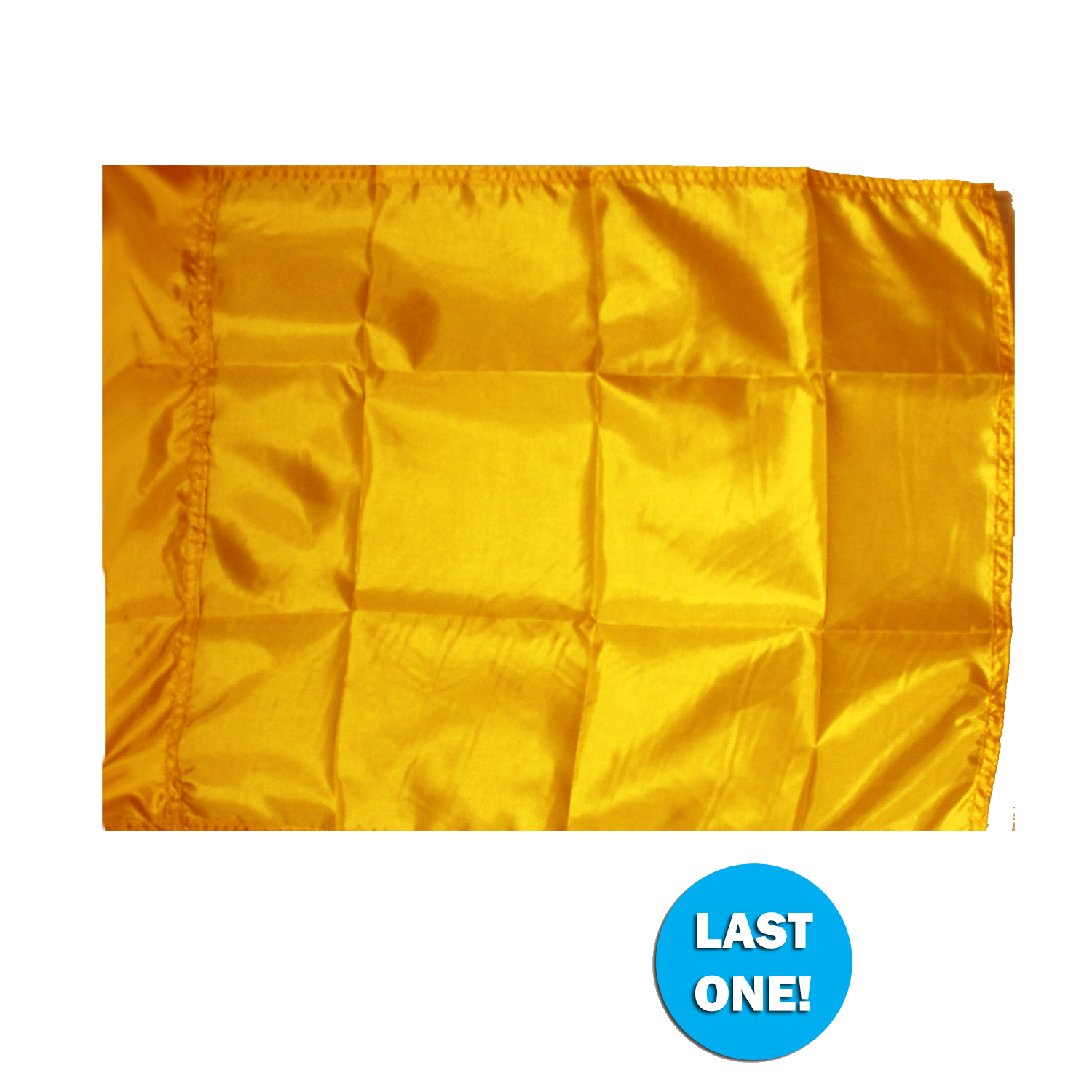 Closeout Flags: 090324 Custom Size Gold PCS