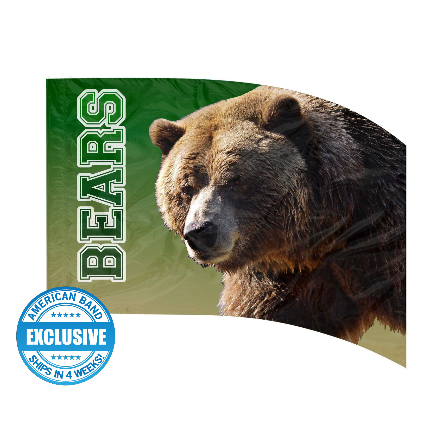 Made-to-Order Digital Mascot Flags - Bear