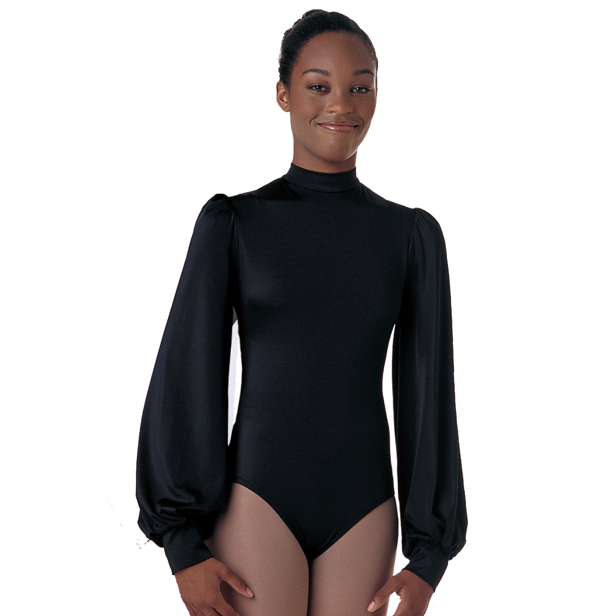 Leotards: Puff Sleeve (Black)