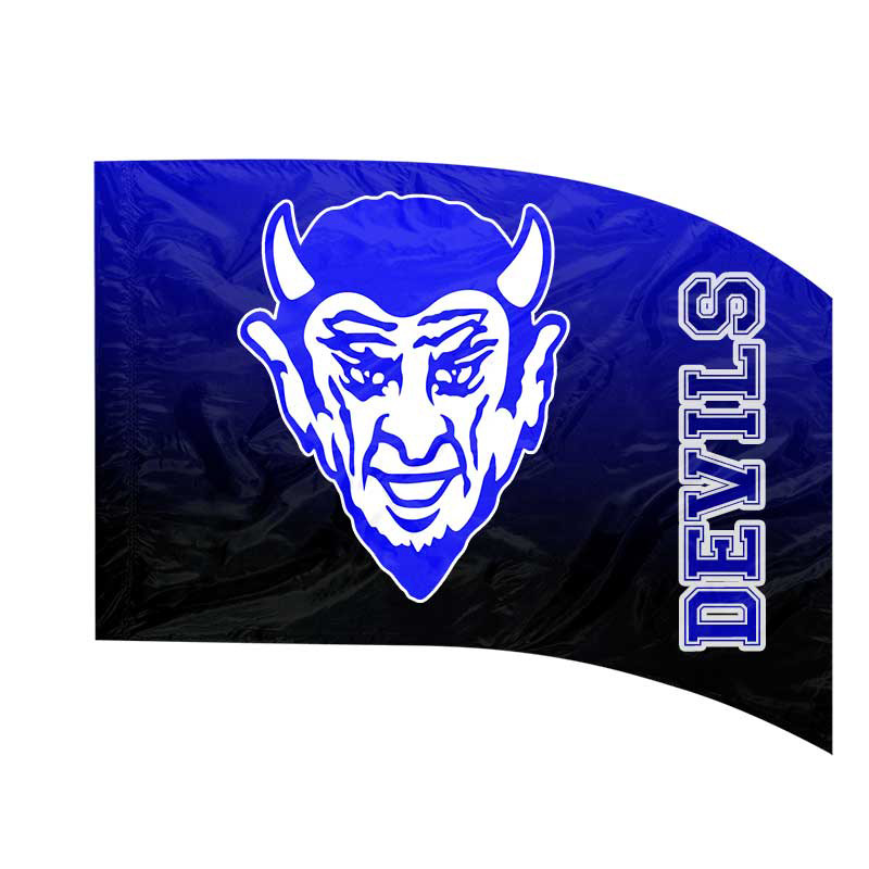 Made-to-Order Digital Mascot Flags - Blue Devils