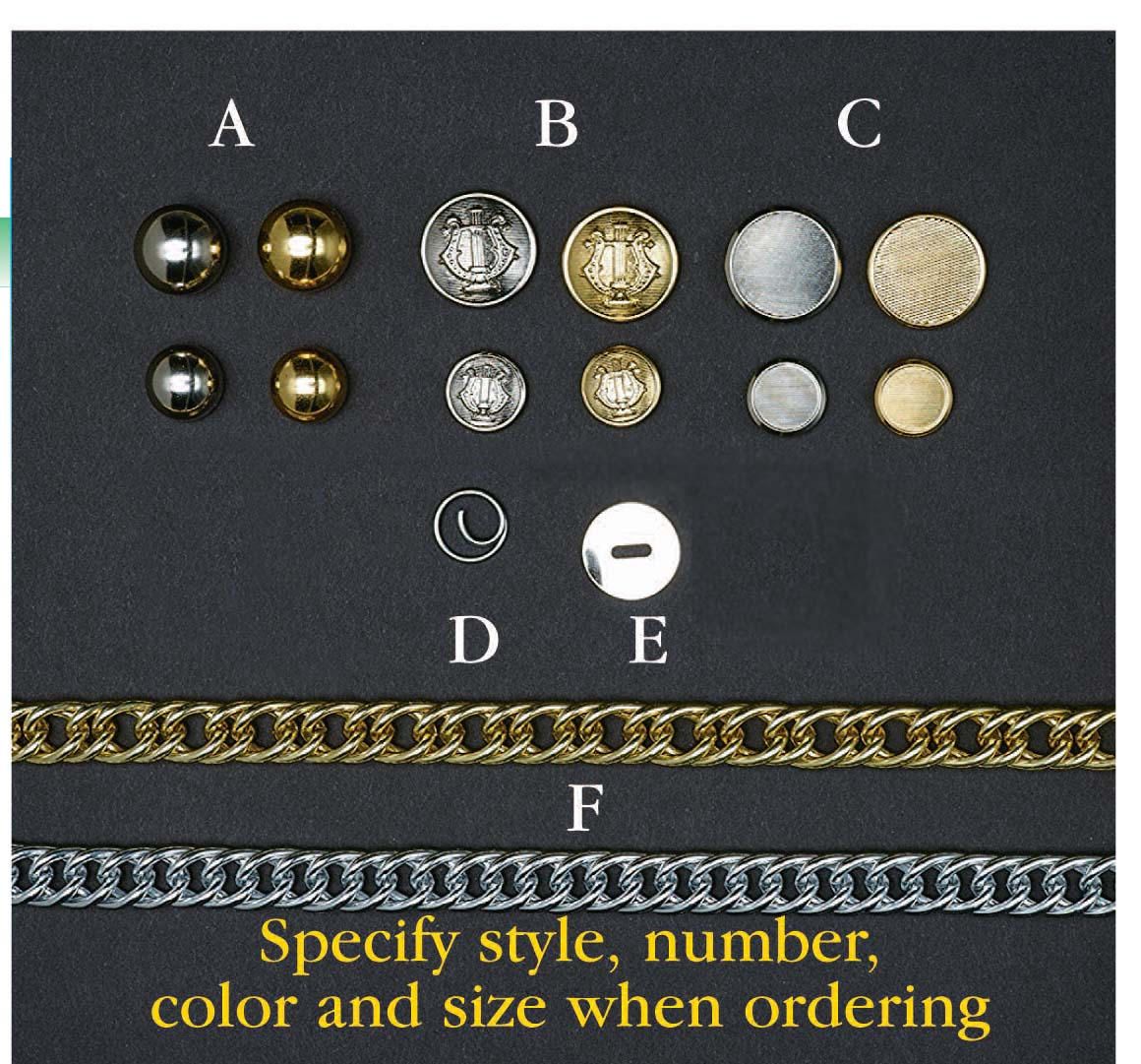 Uniform Buttons (dozen)