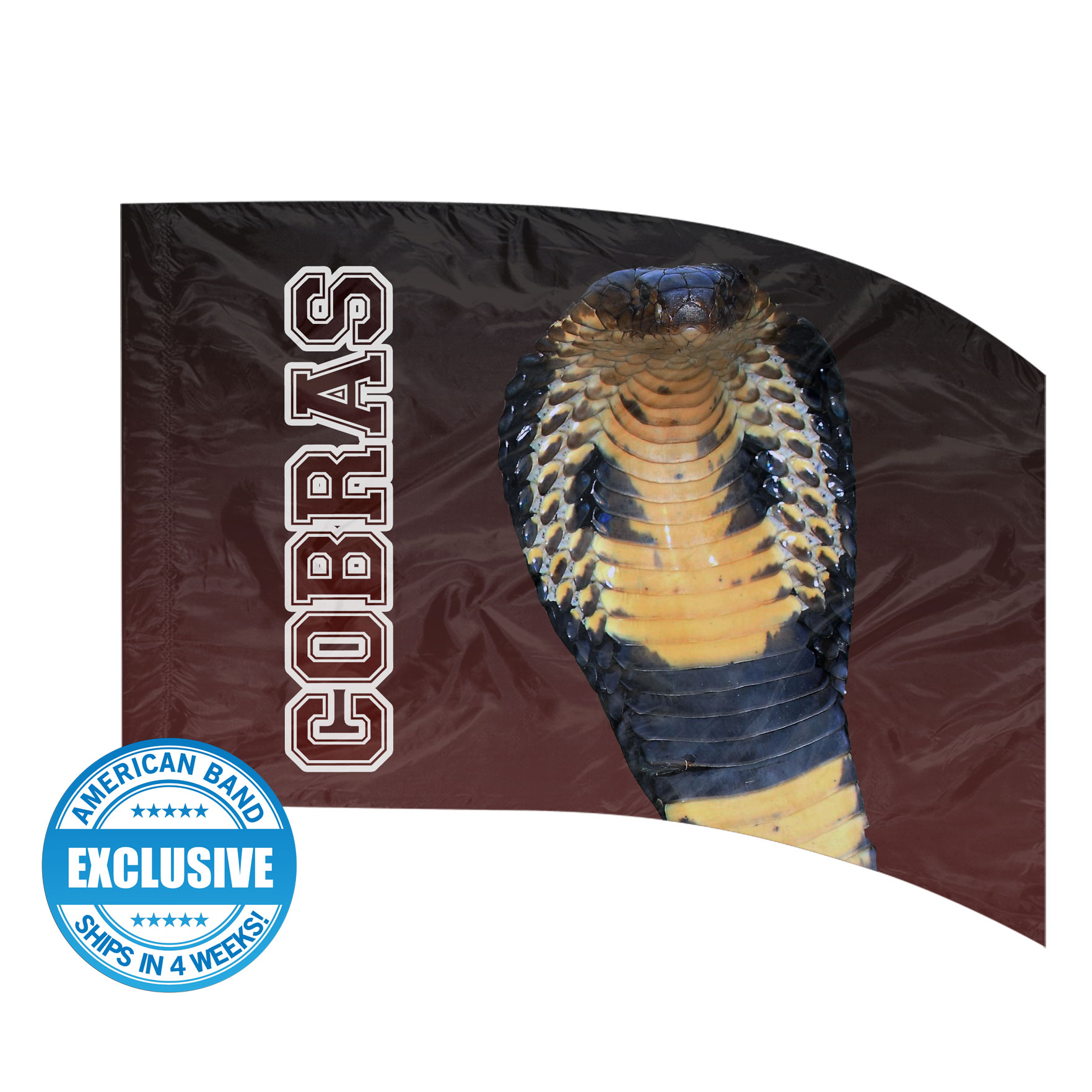 Made-to-Order Digital Mascot Flags - Cobra