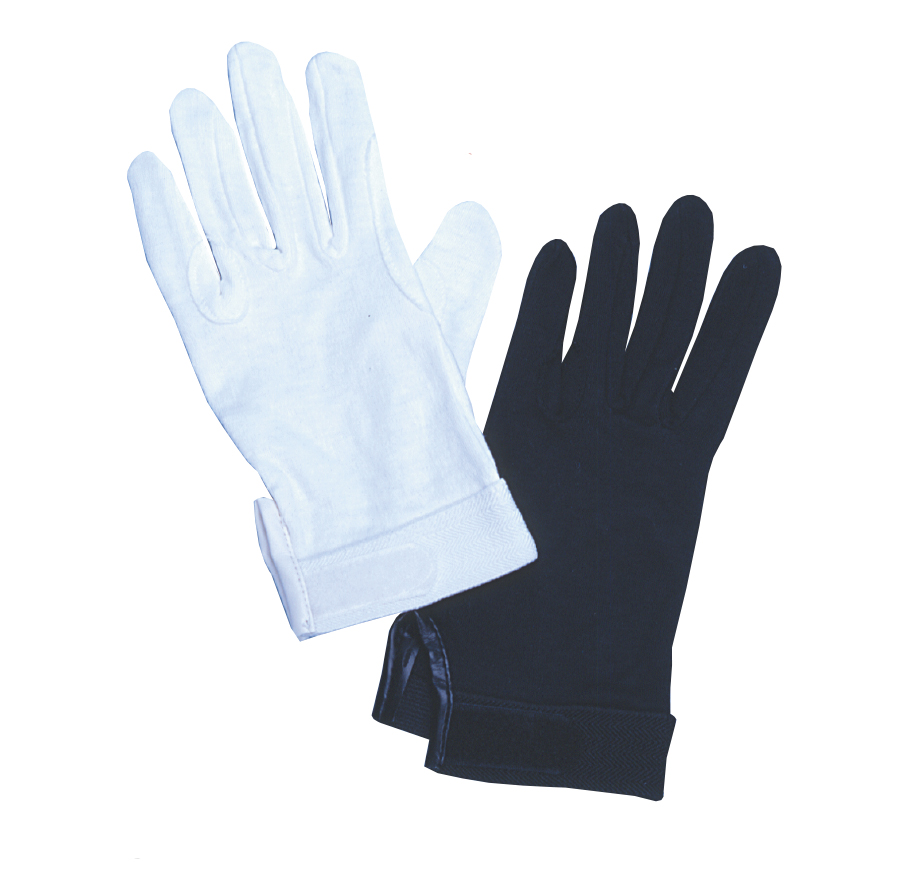 Velcro-Closure Cotton Gloves