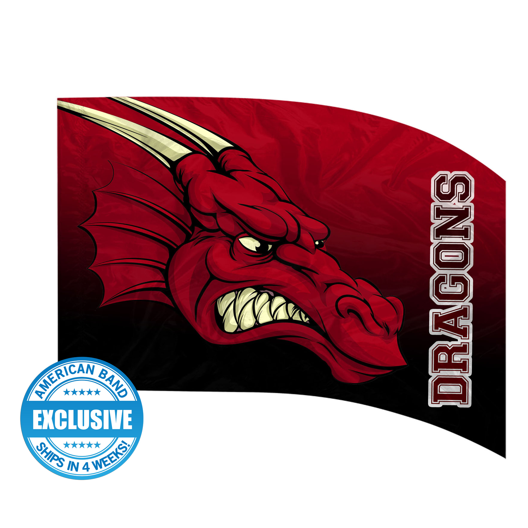 Made-to-Order Digital Mascot Flags - Dragon