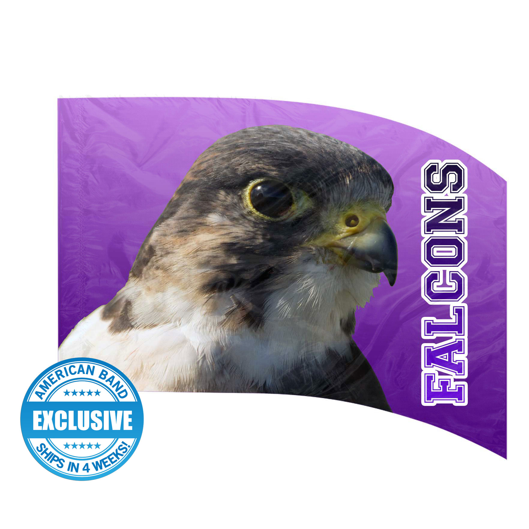Made-to-Order Digital Mascot Flags - Falcon
