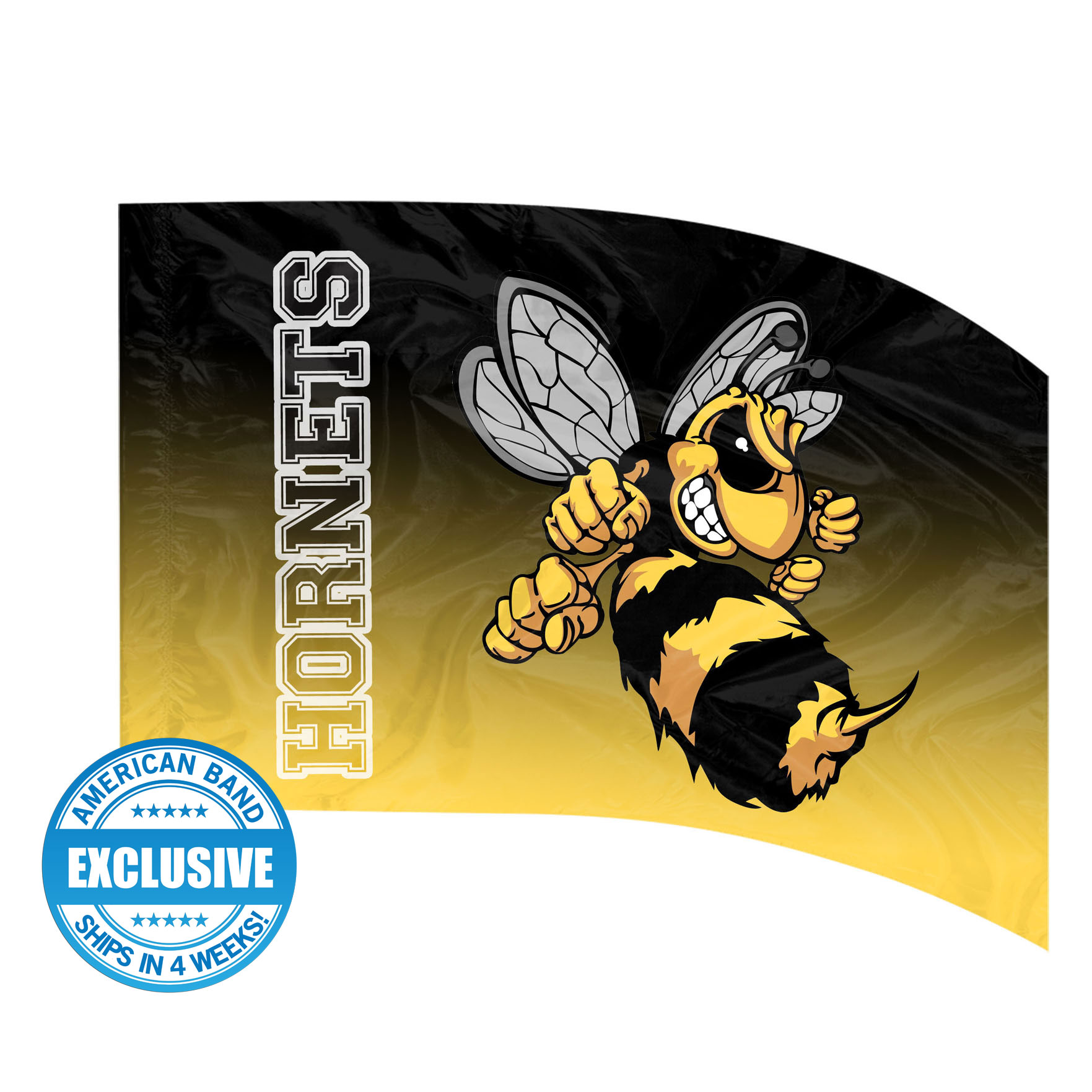 Made-to-Order Digital Mascot Flags - Hornet
