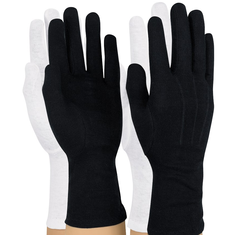 Long-Wristed Cotton Gloves