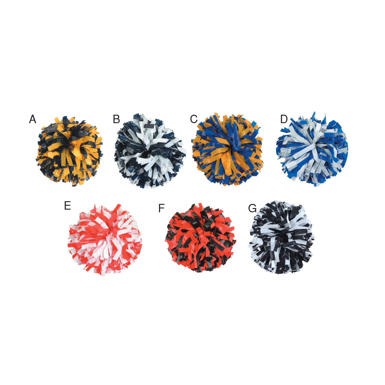 Poms: 2-Color Mix