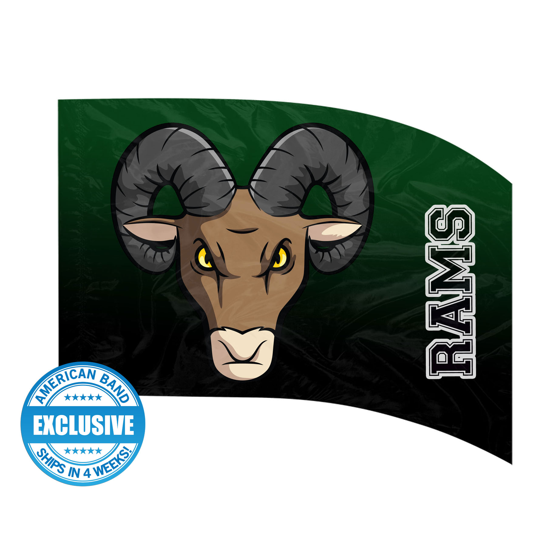 Made-to-Order Digital Mascot Flags - Rams