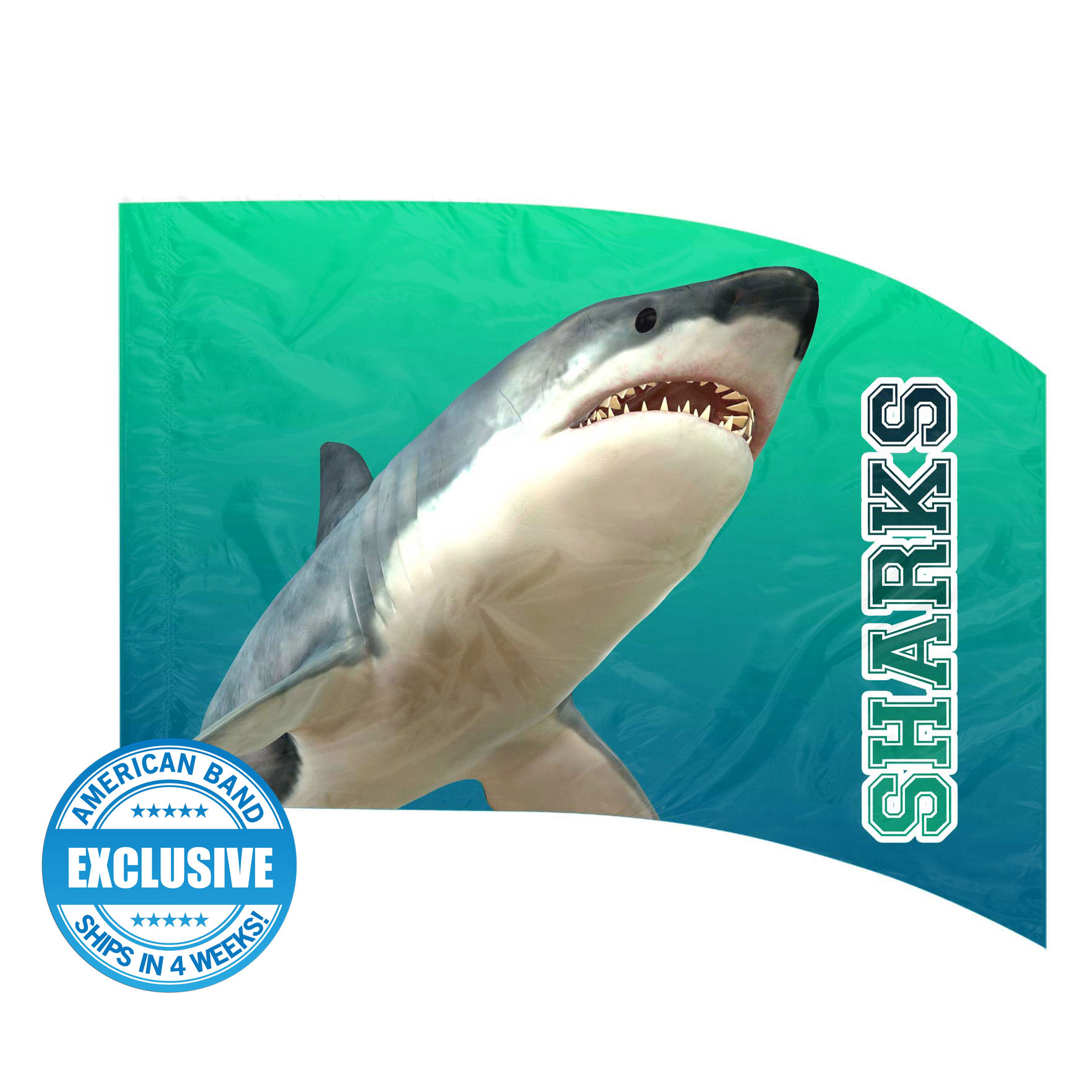 Made-to-Order Digital Mascot Flags - Shark