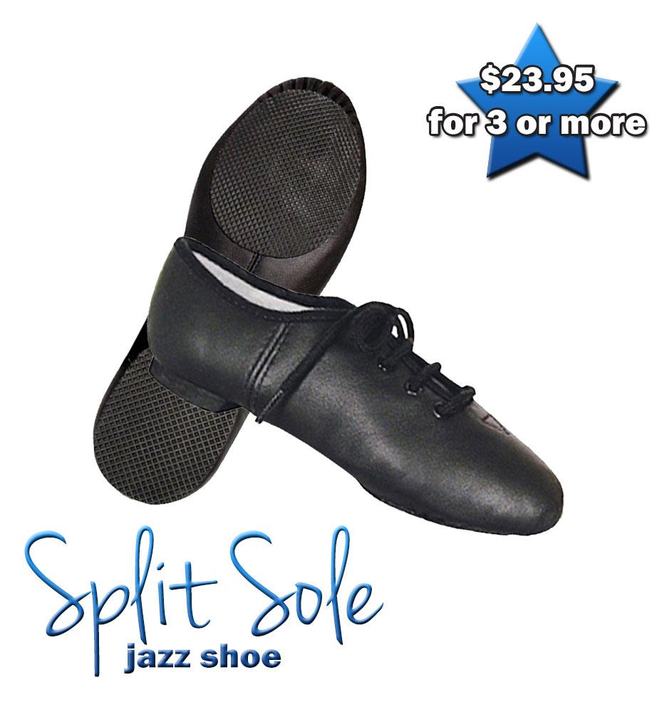 Split-Sole Jazz Shoe (Black)