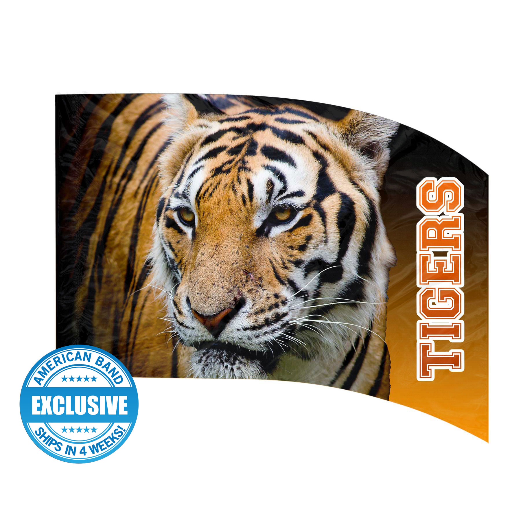 Made-to-Order Digital Mascot Flags - Tiger