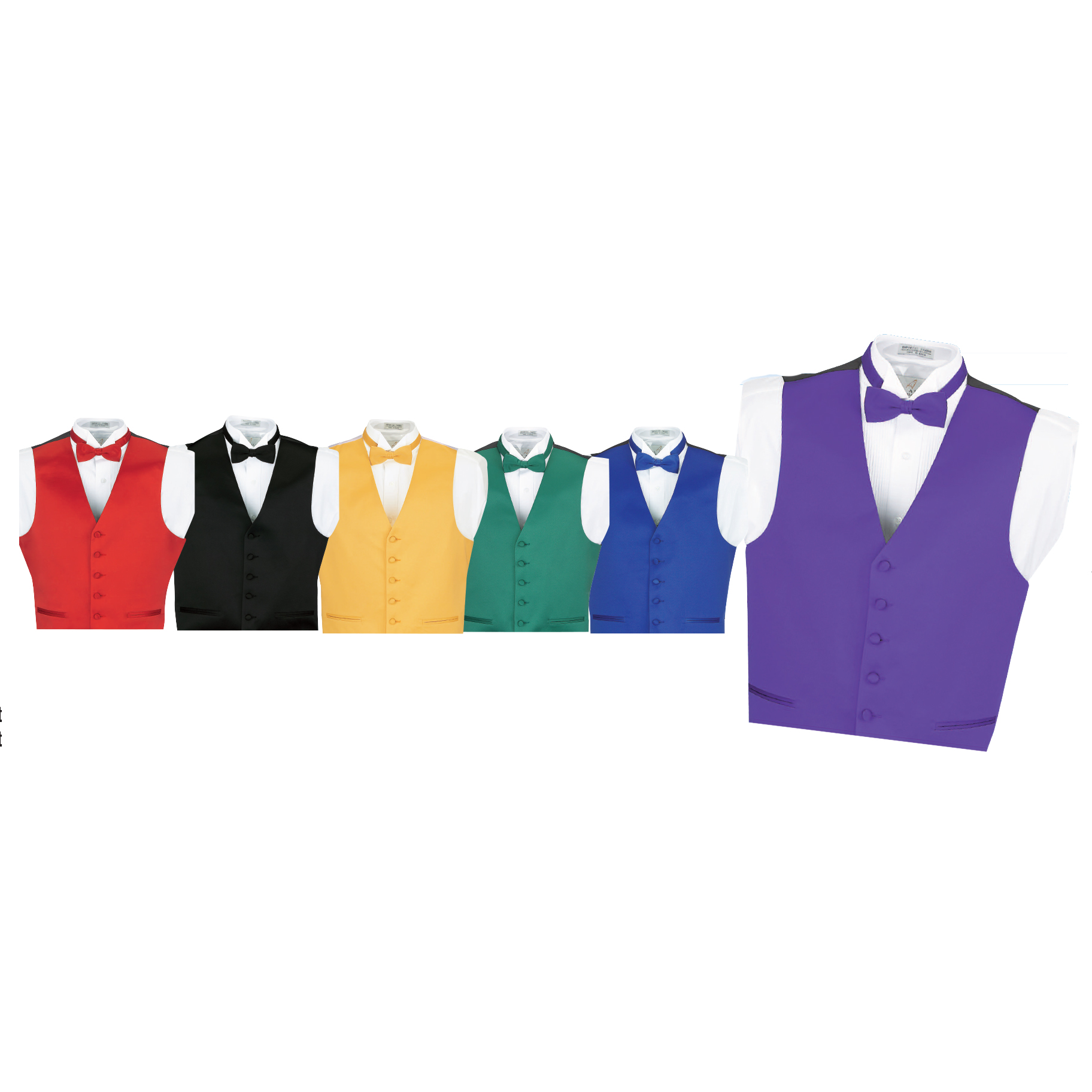 Mens Poly-Satin Vest