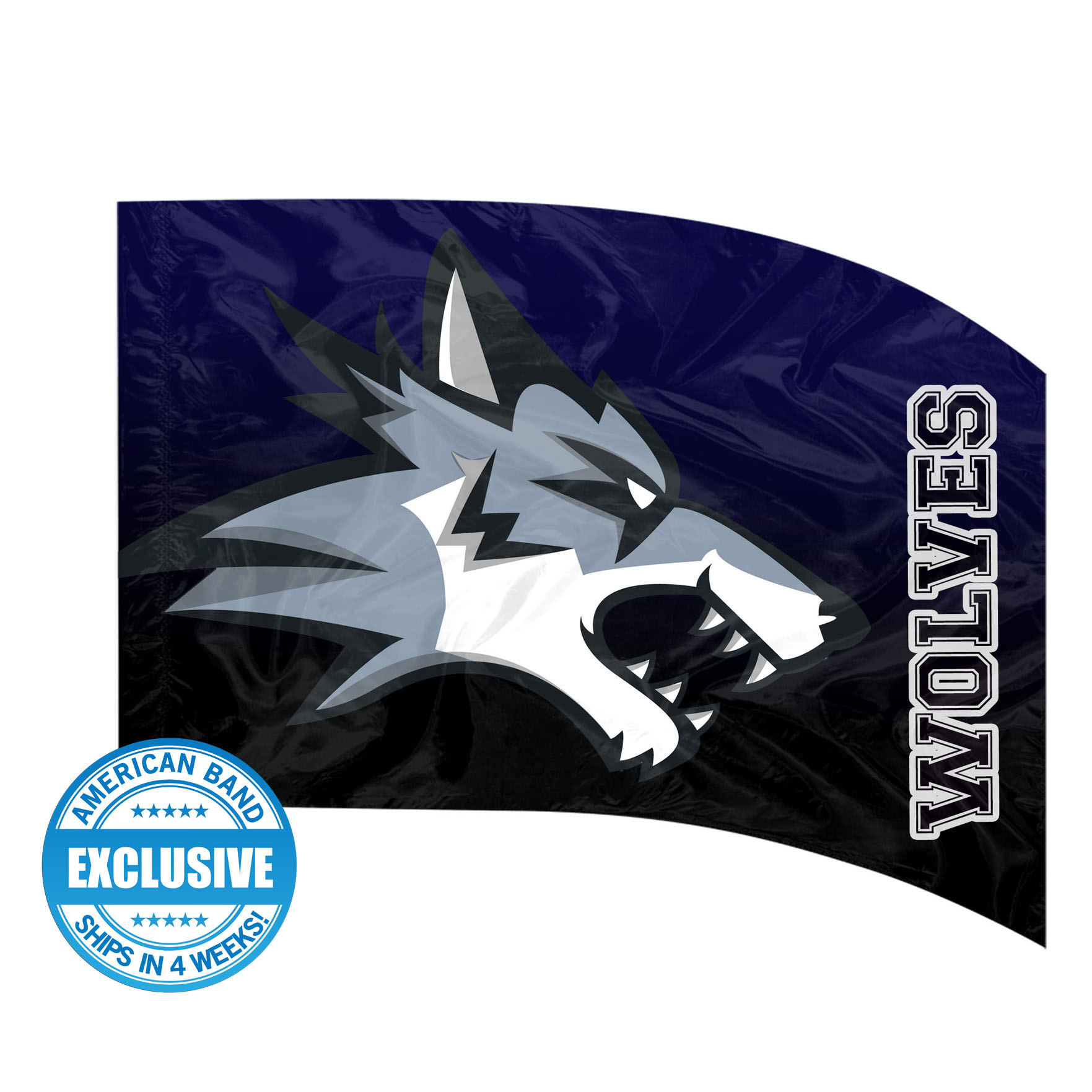Made-to-Order Digital Mascot Flags - Wolves
