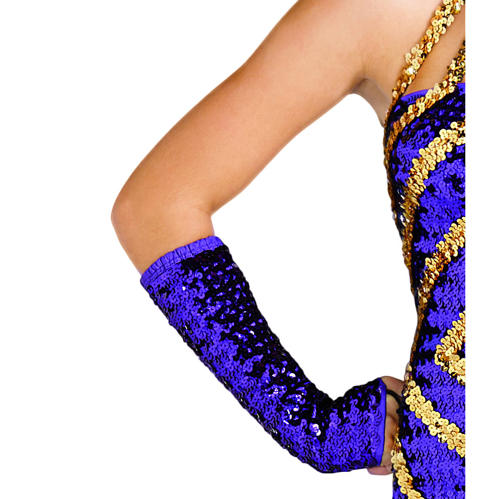 Below-the-Elbow Sequin Mitts
