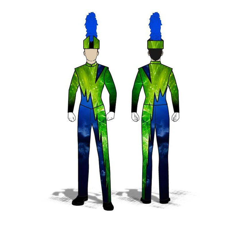 Digital Band Uniforms: Blue Green