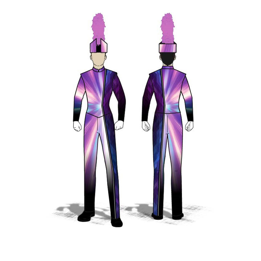 Digital Band Uniforms: Purple Flare