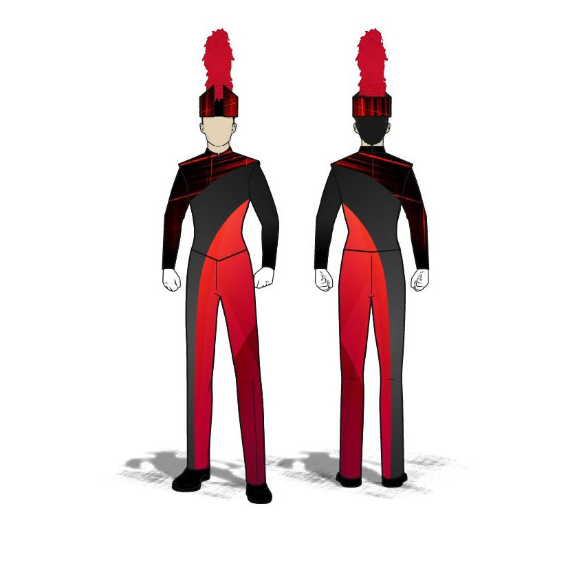 Digital Band Uniforms: Red Curves