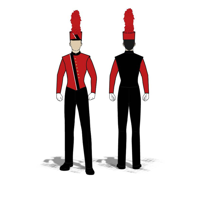 Digital Band Uniforms: Traditional 3 (Jacket)