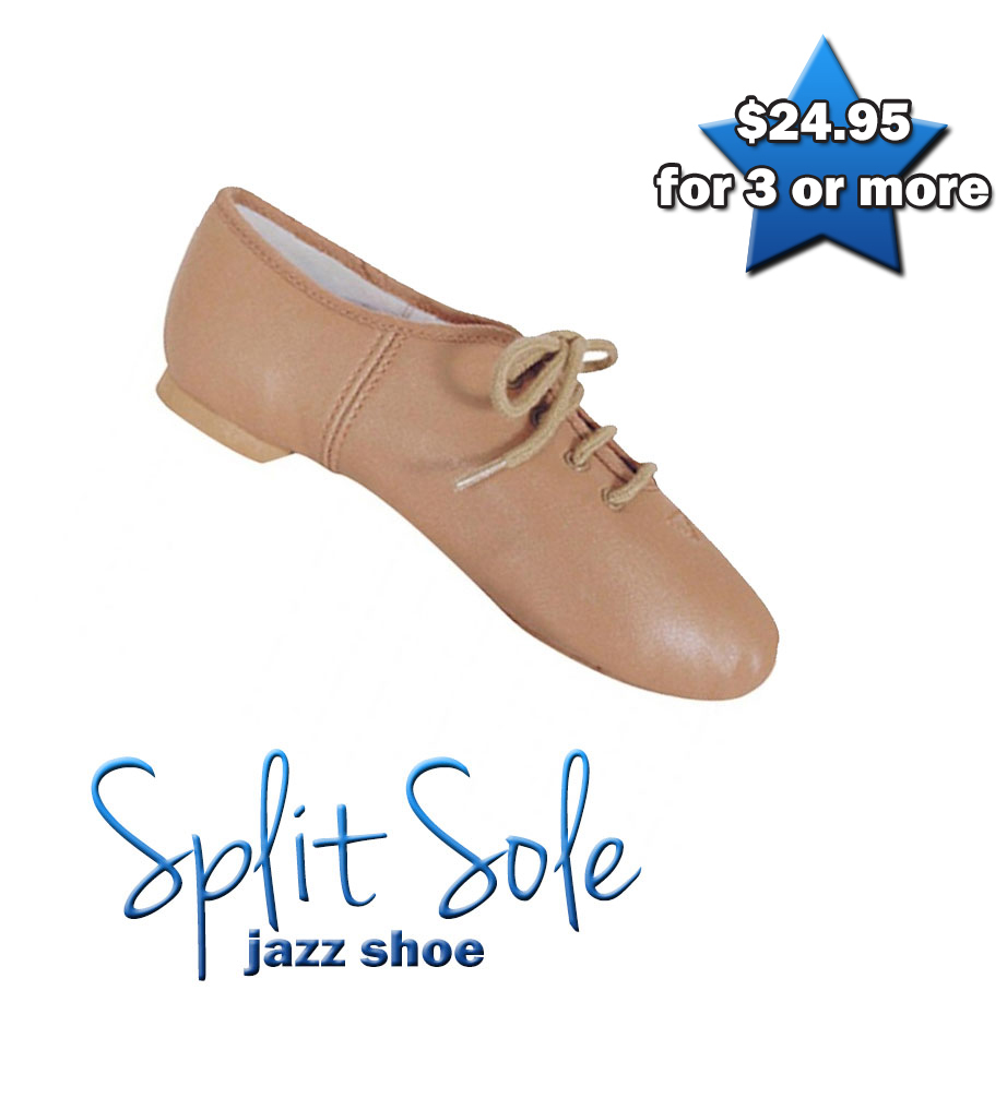 Split-Sole Jazz Shoe (Tan)