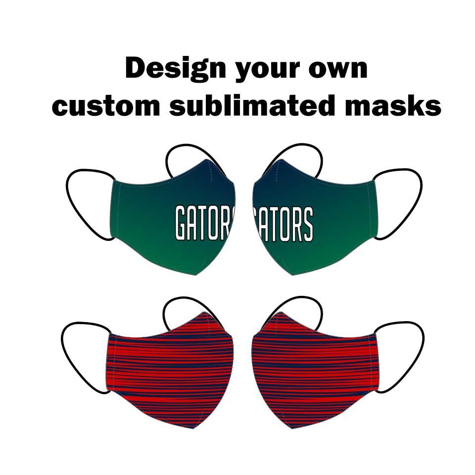 Custom Sublimated Face Masks